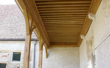 Plafond a¦Ç la franc¦ºaise en che¦éne d'une galerie.jpg